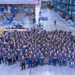 July 2017: The SpareParts LogisticsCentre of EvoBus GmbH, the world's largest central store for bus parts, is celebrating its tenth anniversary. The SpareParts LogisticsCentre employs around 400 people.
