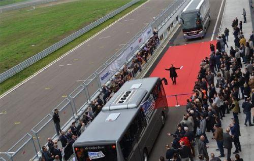 La presentazione di FormulaBus con Filippo Verni presso l'Autodromo di Modena