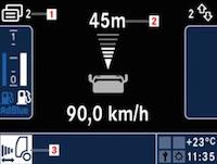 Con ART, tempomat con regolatore automatico della distanza, si era in grado di mantenere la distanza minima di sicurezza dal veicolo che precedeva.