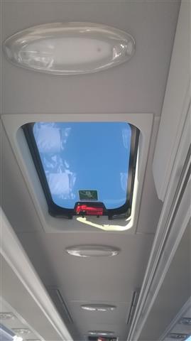 Un dettaglio dell'interno del bus