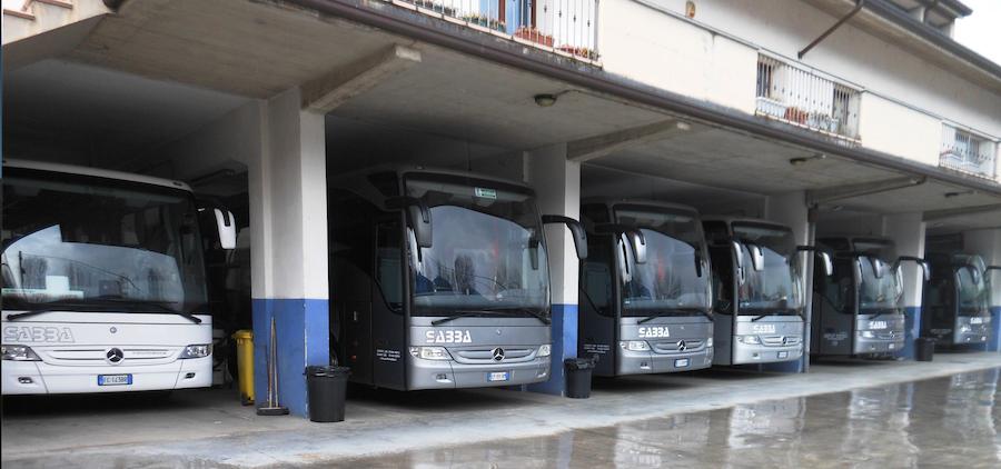 Il deposito di Autolinee S.A.B.B.A. a Cividate Camuno (BS)