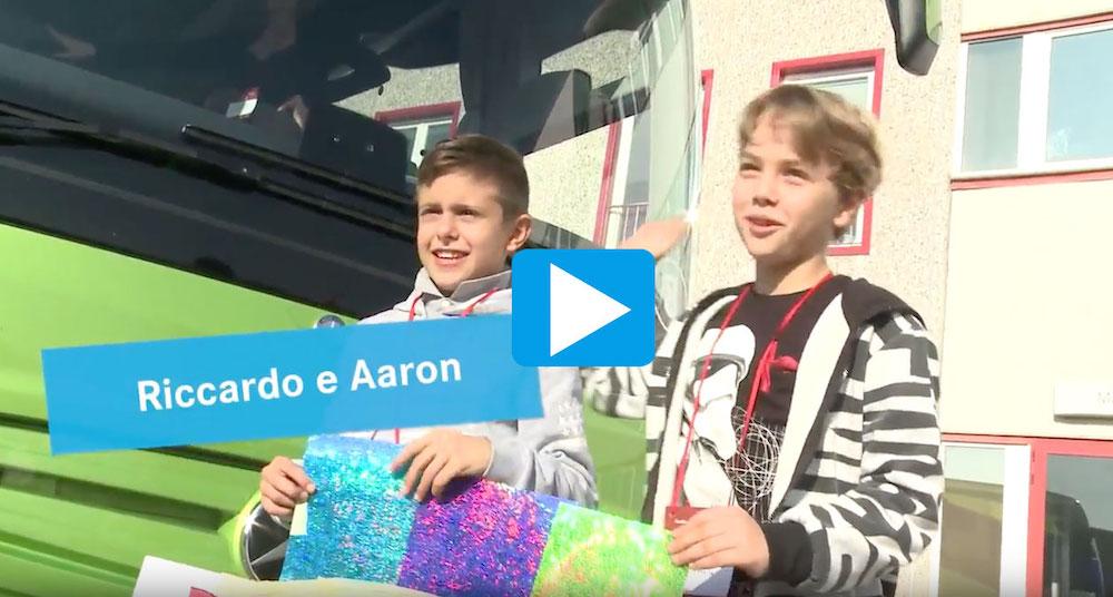 BusTutorial Riccardo e Aron prese a bordo