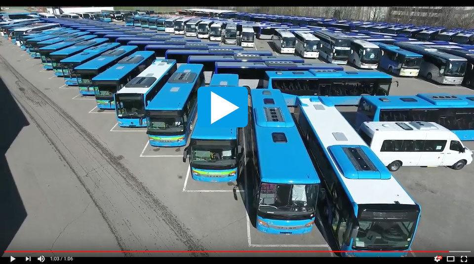 Video drone parcheggio EvoBus marzo 2018