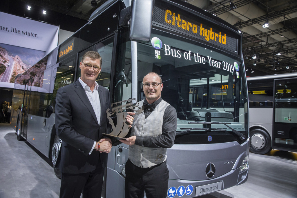 "Citaro Hybrid è ""Bus of the Year"" 2019"