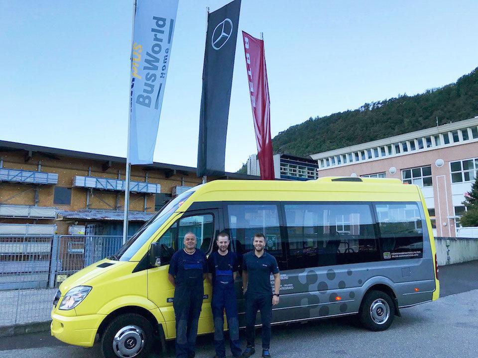Bressanone nuovo impianto Minibus, team Minibus