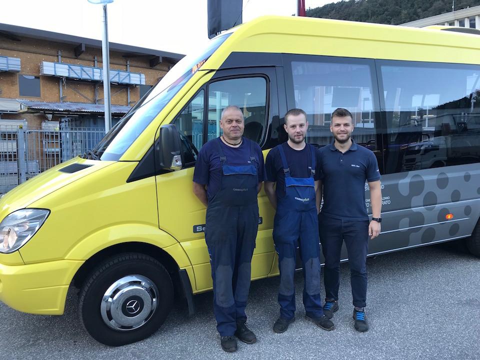 impianto Minibus, team Minibus