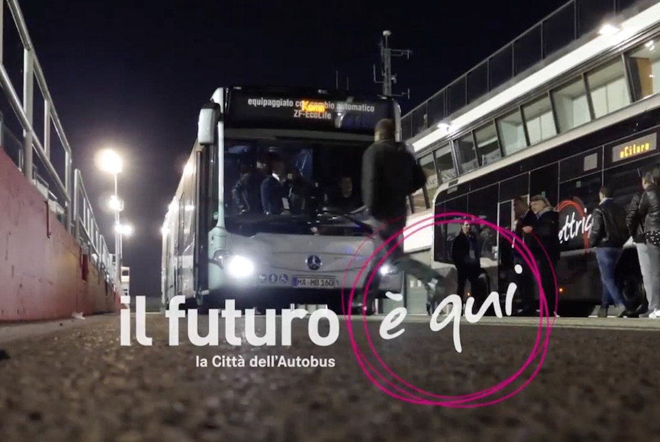 video gallery bus Misano IBE 2018 Città dell'Autobus by night