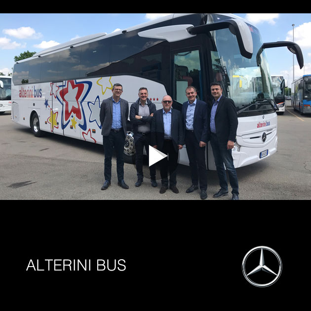 Consegna Mercedes 15RHD 2019 a ALTERINI BUS