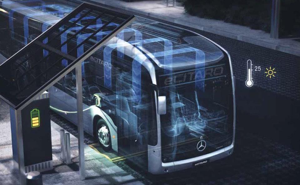 Ricarica eCitaro Mercedes-Benz