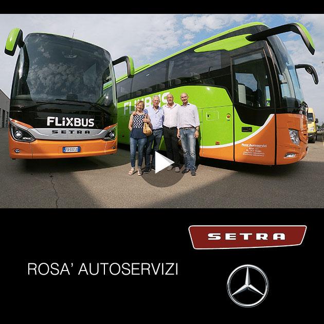 Consegna SETRA e Mercedes 2019 a ROSA' AUTOSERVIZI