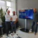 Monitor in reception e consegna BusStore a Luvarà Bus