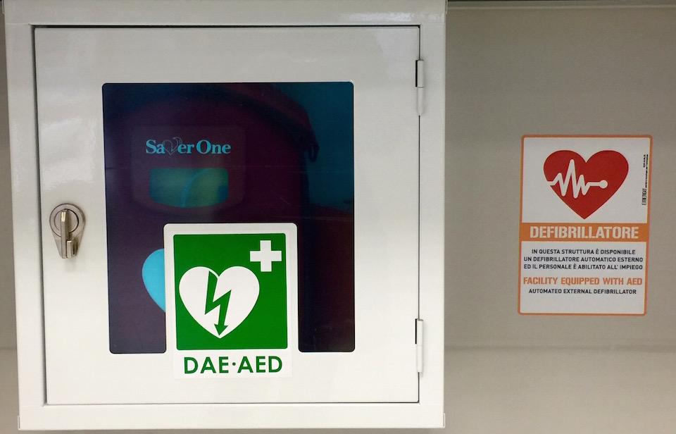 Defibrillatore a EvoBus Sorbara