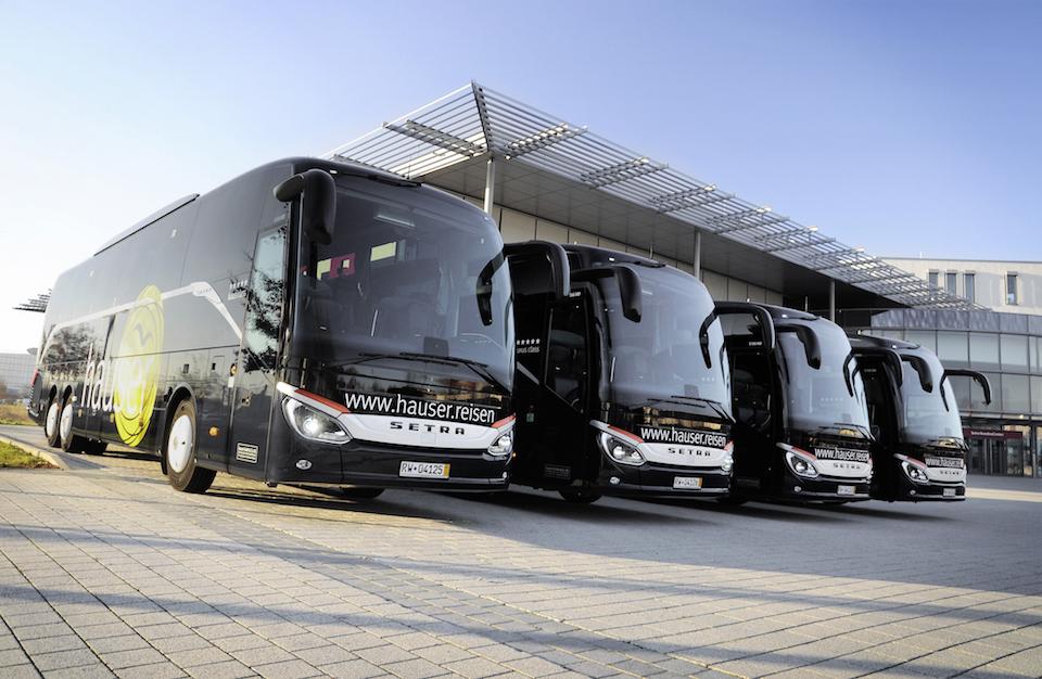 cinque autobus Setra S 516 HD per Hauser