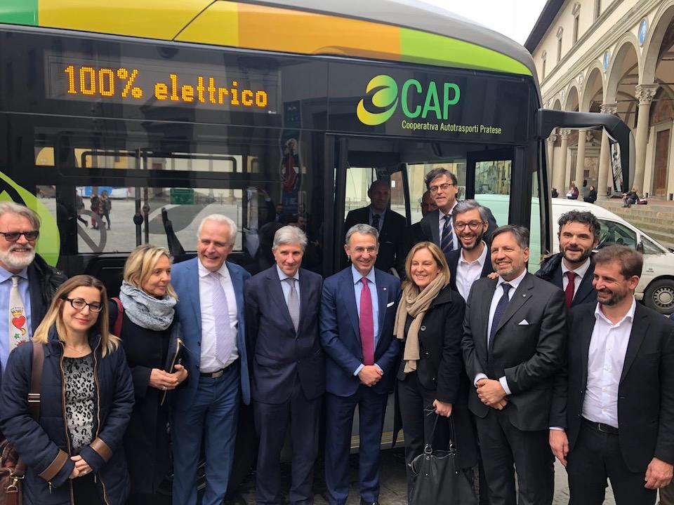 eCitaro Mercedes-Benz CAP Prato a Firenze con ministro Sergio Costa