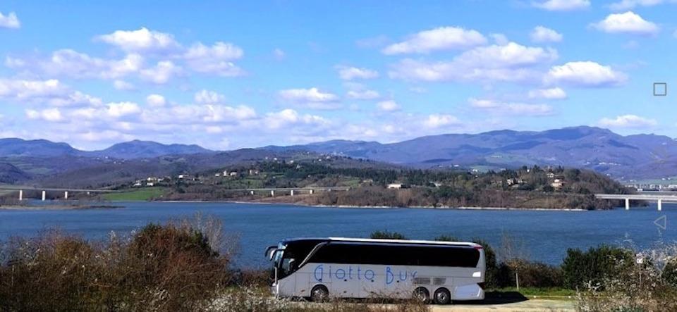 Giotto Bus Setra al Lago Tasimeno marzo 2020