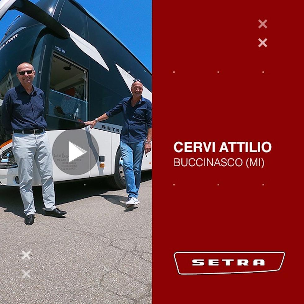 Consegna Setra 2020 a Autoservizi Cervi Attilio