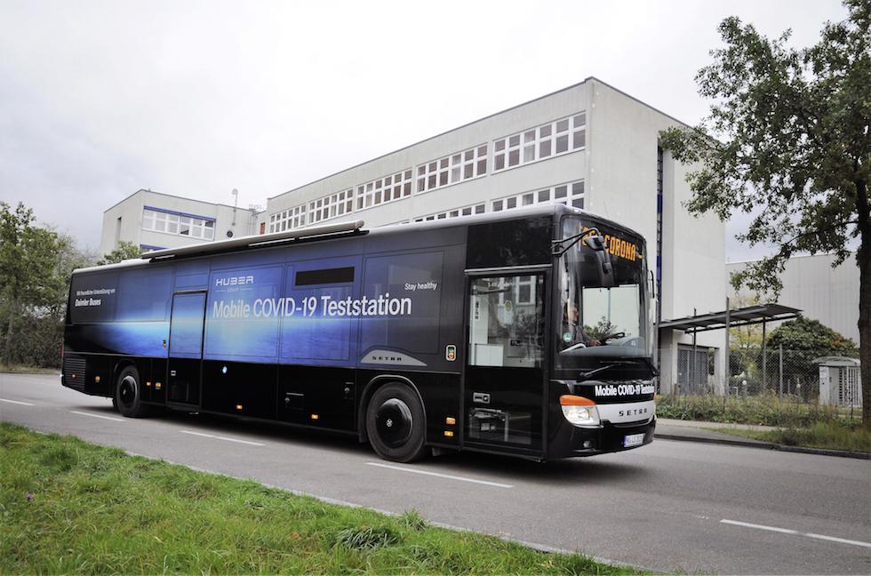 Autobus Setra per test covid-19