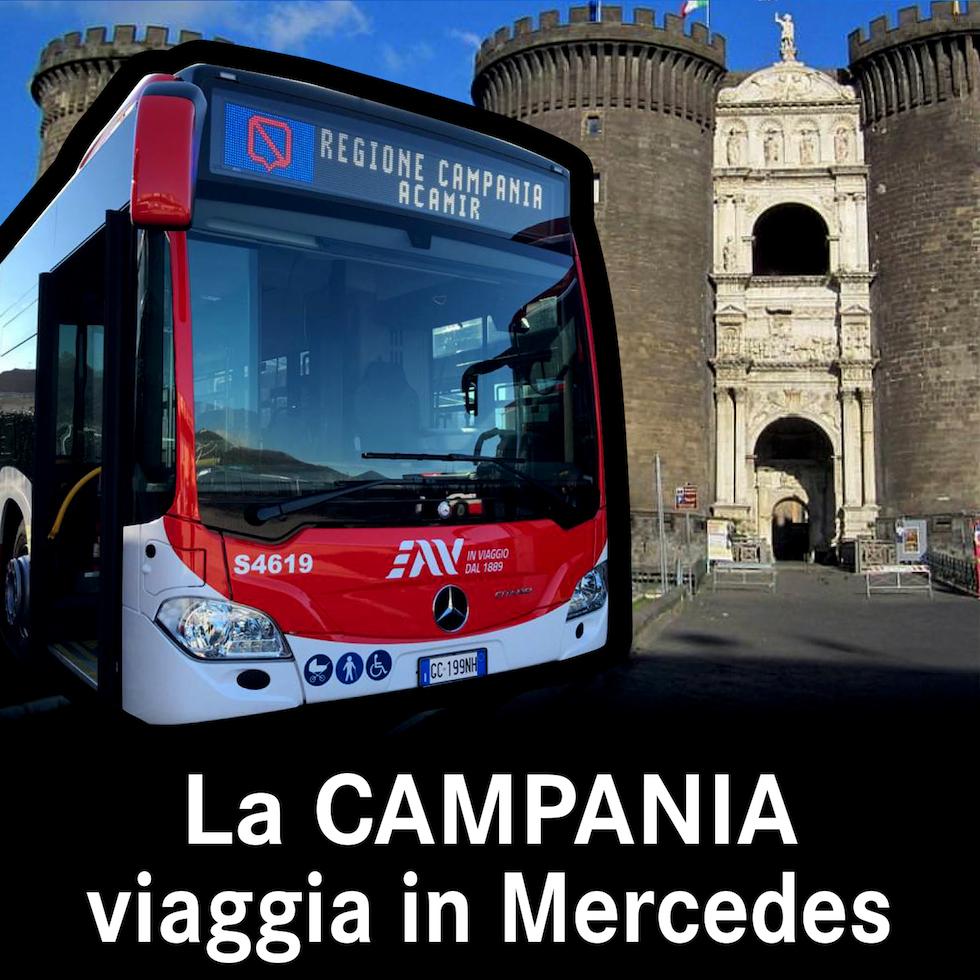 In Campania si viaggia in Mercedes
