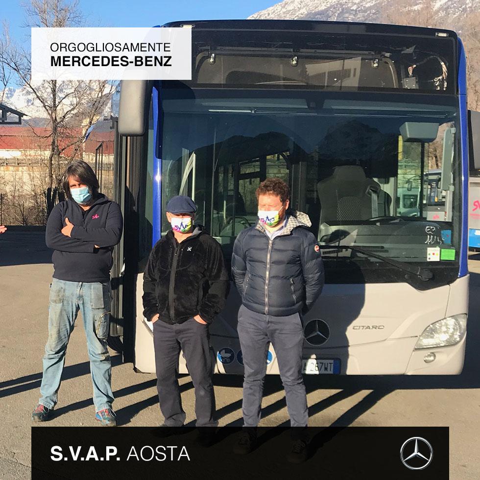 Consegna Mercedes-Benz 2020 a SVAP Aosta