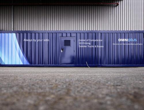 Centro mobile di stampa 3D per i ricambi OMNIplus