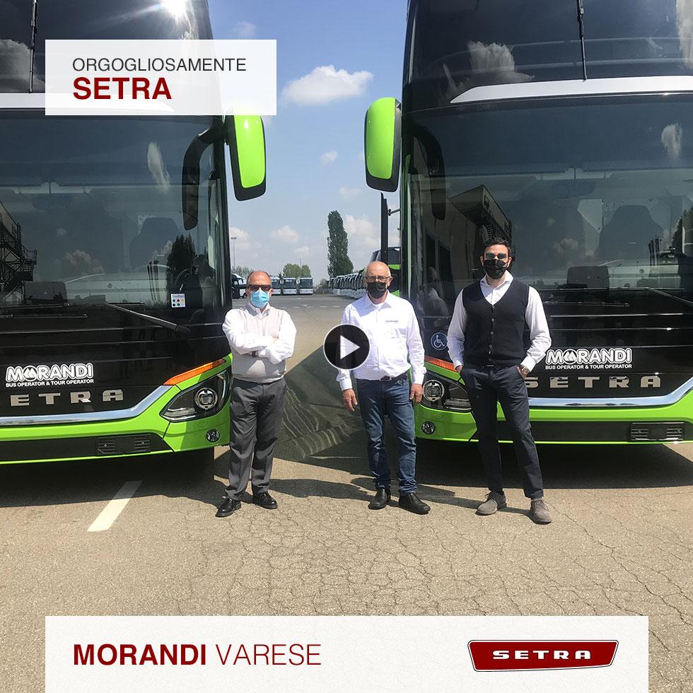 Consegna Setra 2021 a Morandi
