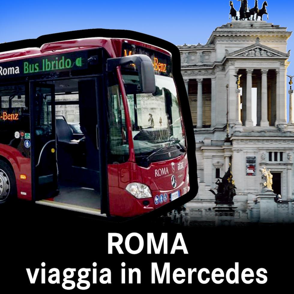 A Roma si viaggia in Mercedes Atac 2021