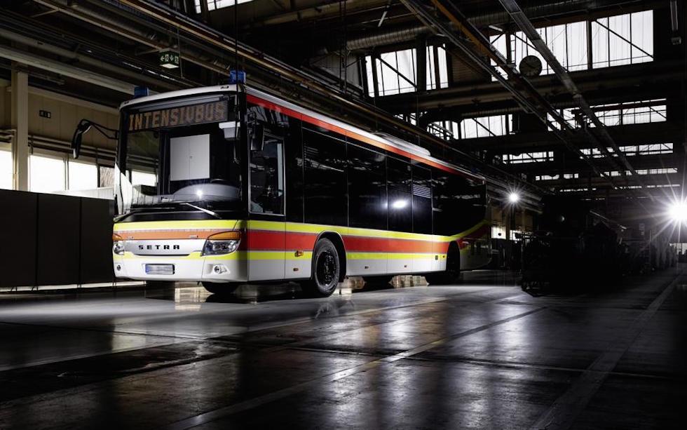 Autobus Setra convertito in ambulanza
