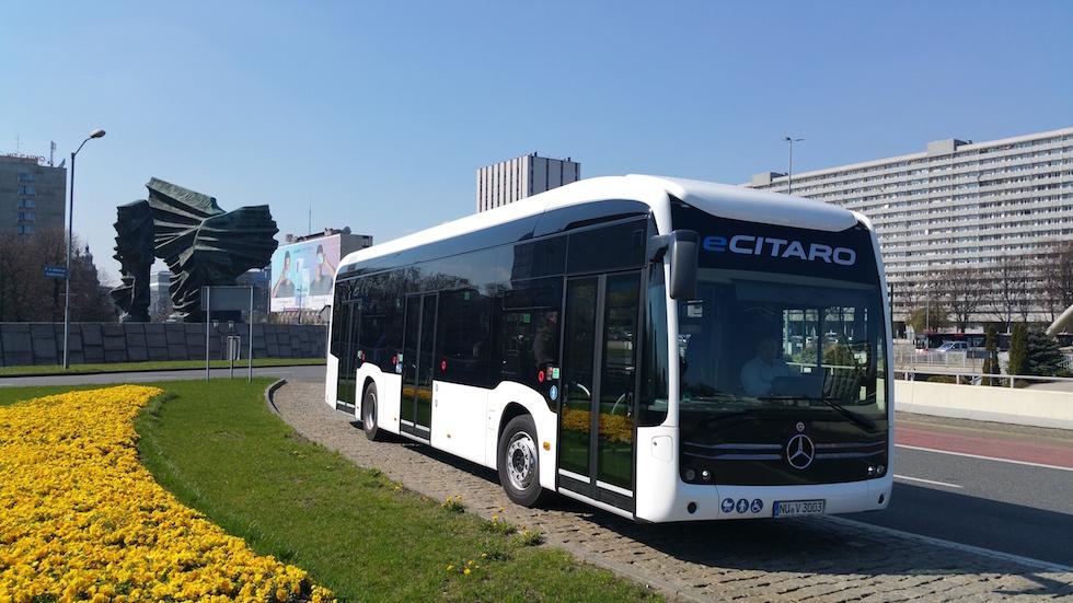 eCitaro Mercedes-Benz sulle strade della Polonia