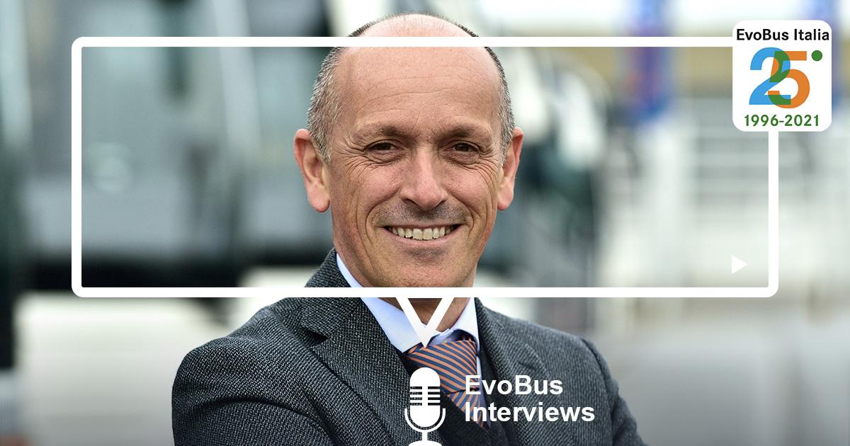 Intervista 25 anni a Matteo Ferrari direttore commerciale clienti privati EvoBus Italia