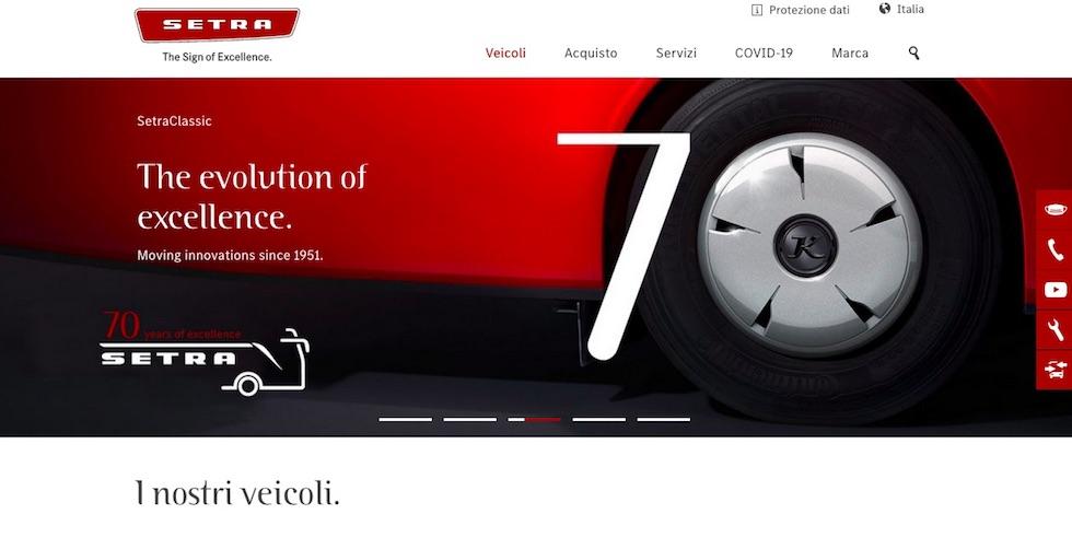 Setra nuovo sito web